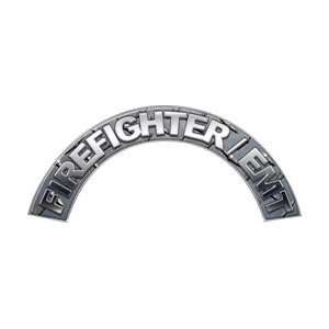 EMT Diamond Plate Firefighter Fire Helmet Arcs / Rocker Decals