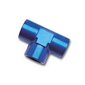 661730 Blue Anodized Aluminum 3/8 Female Pipe Tee Fitting Automotive