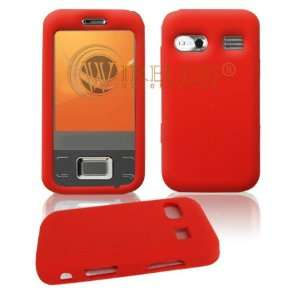 Premium Red Soft Silicone Gel Skin Cover Case for Huawei M750 [Beyond