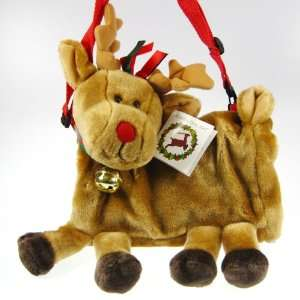 Reindeer purse muff Christmas Ultra soft Plush Bag Toys & Games