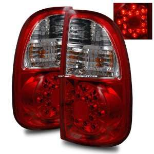 05 06 Toyota Tundra Access Cab LED Tail Lights   Red Clear