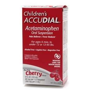 Childrens Accudial Pain Reliever/Fever Reducer Acetaminophen Oral