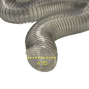 PVC Flexduct (Light Duty) Clear   Vent Hose   4 ID x 50ft Length Hose