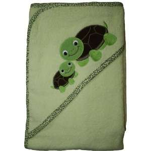 Mini Couture Extra Large 40x30 Absorbent Hooded Towel, Turtles Baby