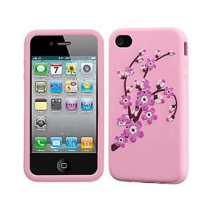 Pink Flowers Silicon Soft Gel Skin Soft Rubber Case Cover