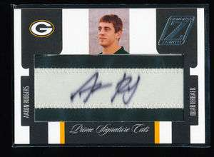 AARON RODGERS 2005 DONRUSS ZENITH PATCH AUTO 12/99 JERSEY NUMBER