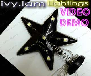 Car Star Sign White LED Flashing Light Super Bright 12v