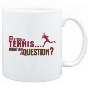 New  To Study Or Tennis  What A Stupid Question ?  Mug Sports