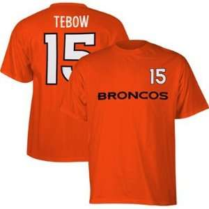 com Tim Tebow Denver Broncos Game Gear Orange Jersey Name And Number