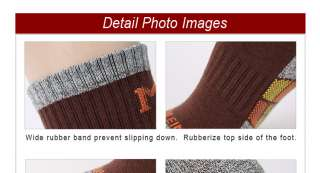 Pair Mens Cushion Camping Trekking Hiking Sports Quarter Socks