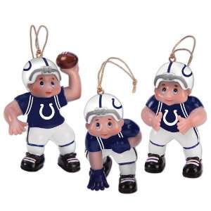 Set of 3 NFL Indianapolis Colts Little Guy Football Player
