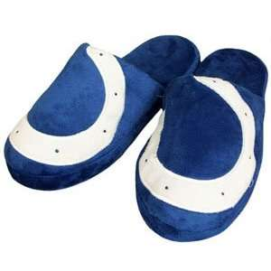 Indianapolis Colts Big Logo Hard Sole Slippers   Large