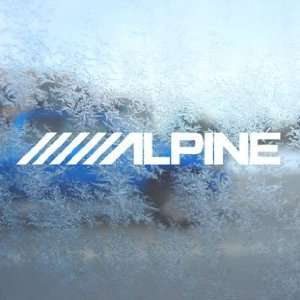 Alpine Stereo Logo White Decal Car Window Laptop White