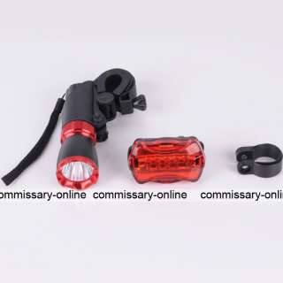 5w 7 LED Bicycle Mountain Bike Cycle Front Tail Rear Light Torch 270