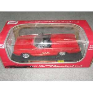 1963 Ford Thunderbird 118 Scale Red Convertible