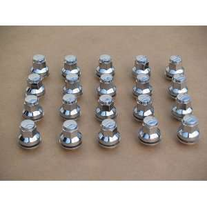 Jaguar chrome lug nuts 12 x 1.5 mag style   set of 20