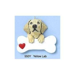 2304 Yellow Lab Dog With Bone Personalized Christmas