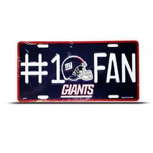 New York Ny Giants Metal Nfl Sport License Plate Wall Sign