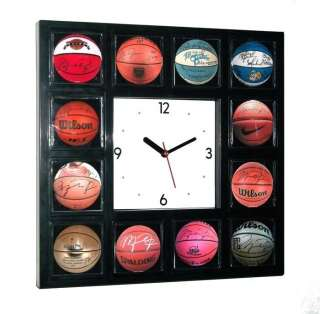 Michael Jordan signed basketball Clock w/12 pictures