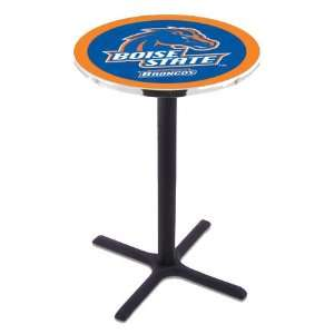 36 Boise State Counter Height Pub Table   Cross Legs