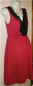 WOMENS SMALL MATERNITY DRESS VALENTINES DAY BLACK RED BEADED NEW W