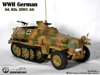 TaoWan Full Metal WWII German Sd.Kfz. 250/1 Alt   Green & Brown