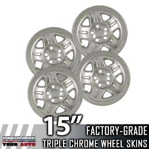 2002 2006 Jeep Wrangler 15 Chrome Wheel Skins Automotive