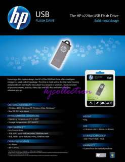 HP 32GB 32G USB Flash Drives Metal Stick Pen Disk v220w
