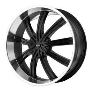 20x8.5 KMC Widow (Gloss Black Machined) Wheels/Rims 6x135