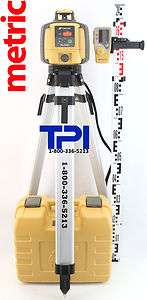 RL H4C SELF LEVELING ROTARY SLOPE LASER LEVEL + TRIPOD & METRIC STAFF