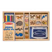 Melissa & Doug Wooden Animal Stamp Set   Melissa & Doug   Toys R