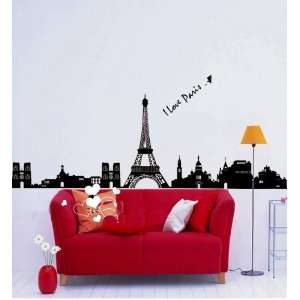 Reusable/removable Decoration Wall Sticker Decal  I Love