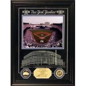New York Yankees Yankee Stadium Archival Etched Glass