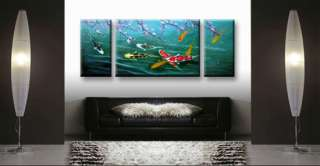 Original Abstract Art Oil Painting Koi Fish Painting