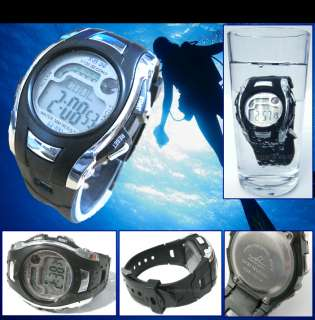 MENS MANS BOYS DIGITAL SPORTS WATCH ALARM CHRONOGRAPH