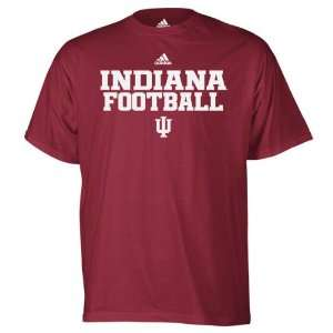 Indiana Hoosiers Red adidas 2011 Football Practice T Shirt