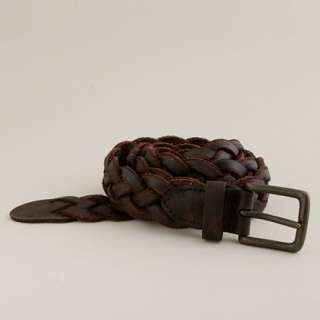Braided leather belt   belts   Mens accessories   J.Crew