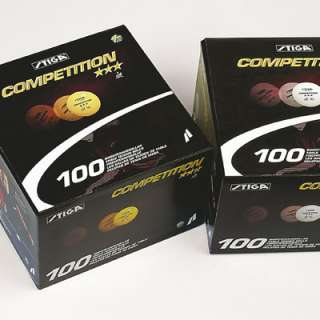 Stiga 3 star Competition 100 pcs Orange T.T. Ping Pong