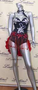 LATIN SALSA(BALLROOM) COMPETITION DRESS SIZE S (VL162)