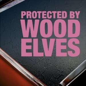 Protected By Wood Elves Pink Decal Truck Window Pink