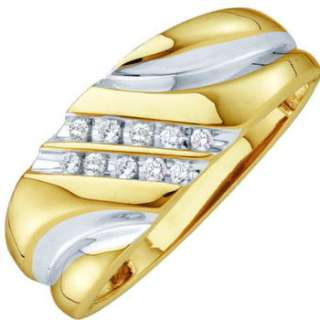 MENS BRILLIANT CUT GENUINE DIAMOND WEDDING BAND RING