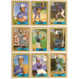 1987 Toronto Blue Jays Topps Team Set w/ Traded Cards