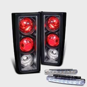 Eautolight Hummer H2 Black Altezza Tail Light Lamps with DRL 8 LED Fog
