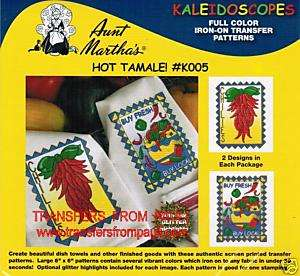 Hot Tamale Full Color Hot Iron Embroidery Transfers