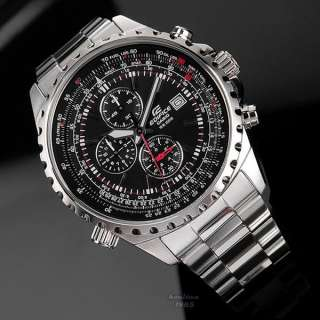 New Casio Mens Edifice Date Watch EF 527D 1AVDF Chronograph
