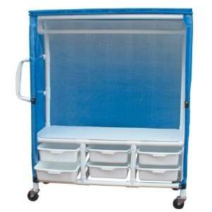MJM International 345 1C 6T Linen Cart