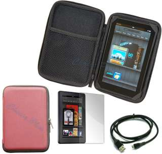 Cover Case EVA Pouch For  Kindle Fire+Screen Protector+USB Cable