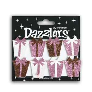 Pink, Brown & White Gift Box Birthday Dazzlers Arts, Crafts & Sewing