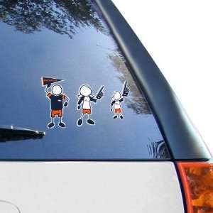 Denver Broncos 12 x 12 Family Car Decal Sheet Sports