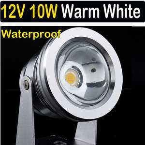 Waterproof Warm White LED Flood Light Lamp 10W 12V Bulb